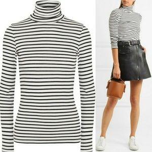 Black & White Striped Longsleeve Shirt Sweater Med
